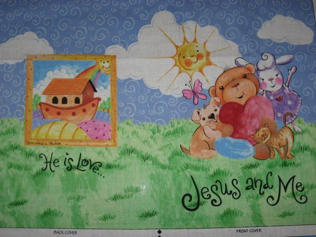 Image 1 of Daisy Kingdom Jesus and Me Animals Fabric baby soft book to sew very rare!