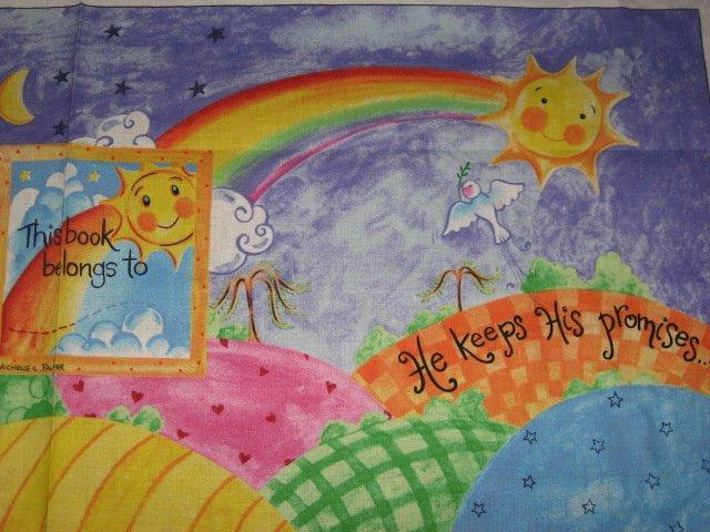 Image 2 of Daisy Kingdom Jesus and Me Animals Fabric baby soft book to sew very rare!