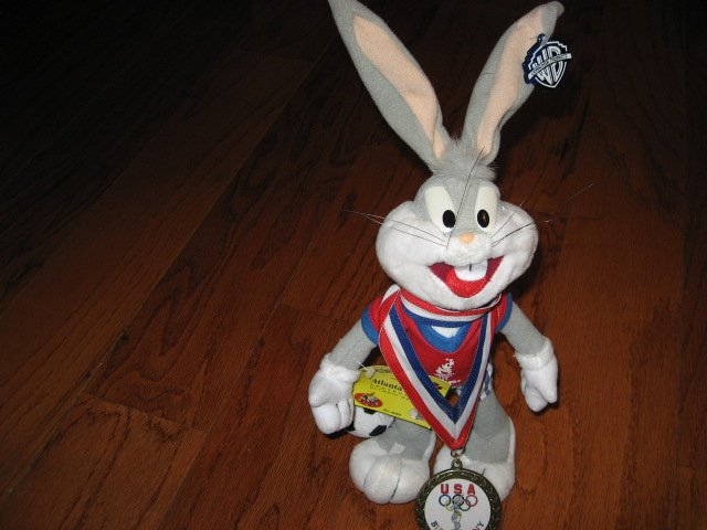 Image 0 of Looney Tunes Bugs Bunny medal Atlanta Centenial Game 1996 Hologram