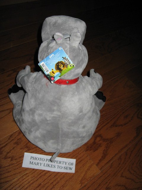 Image 3 of Madagascar Movie Gloria Hippo Gray velour  stuffed Animal