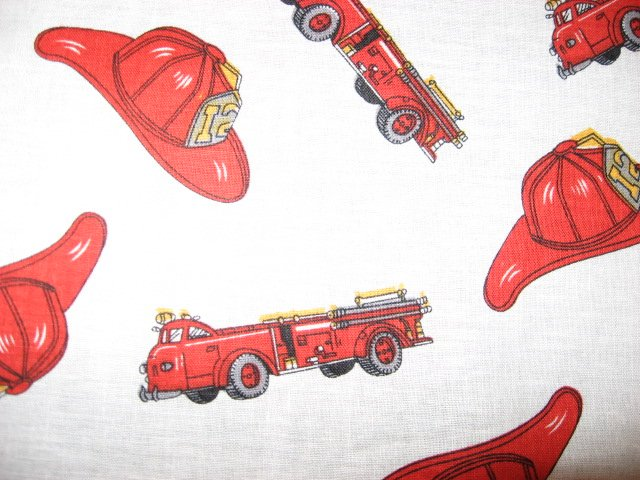 Fire truck fabric hat rescue firetruck sewing cotton