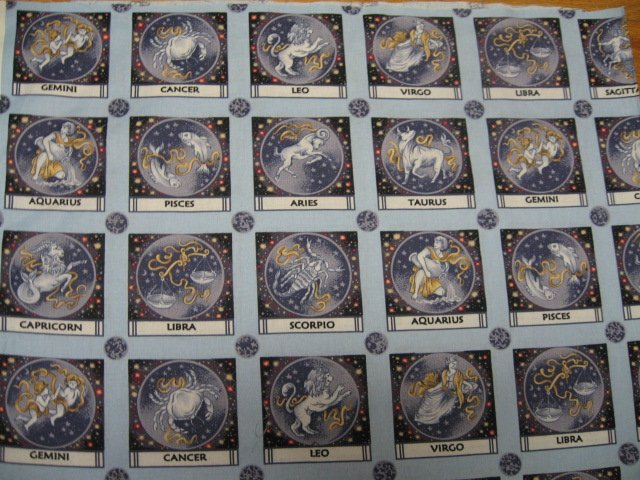 Image 1 of Zodiac signs fabric in small 4