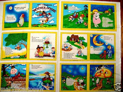 Mary Engelbreit Mother Goose Nursery Rhymes Fabric baby soft book Vol.1 yellow