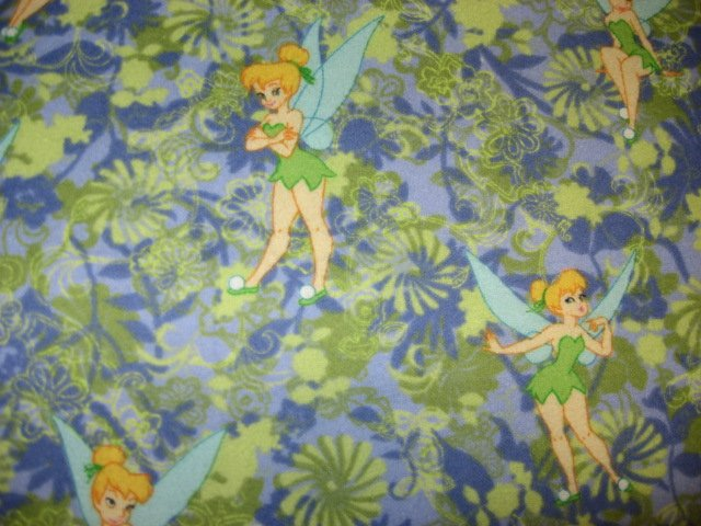 Disney Tinkerbell Fairy Toddler Daycare lilac and green Flannel Baby Blanket