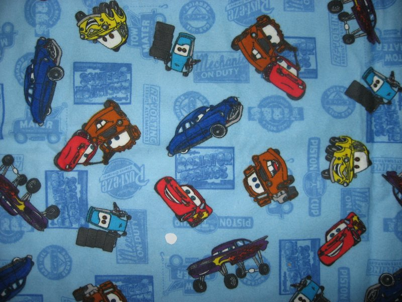 Image 0 of Disney Pixar Cars Mater Tow Truck Toddler Daycare Blue Flannel Baby Blanket