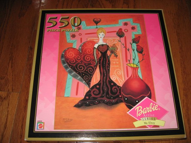 Image 0 of Mattel Barbie Doll 550 pieces Puzzle Artist series Mc Elroy year 2000 Unopened
