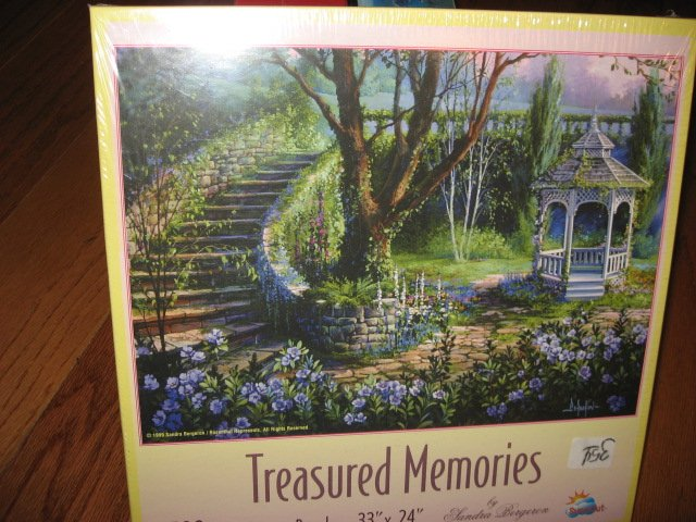Gazebo Sandra Bergeron 1500 pcs sealed Puzzle Treasured Memories 1999
