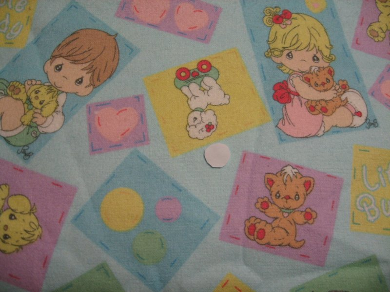 Flannel Baby Blanket Precious Moments Receiving Boy Girl Bunny Dog Lamb toddler