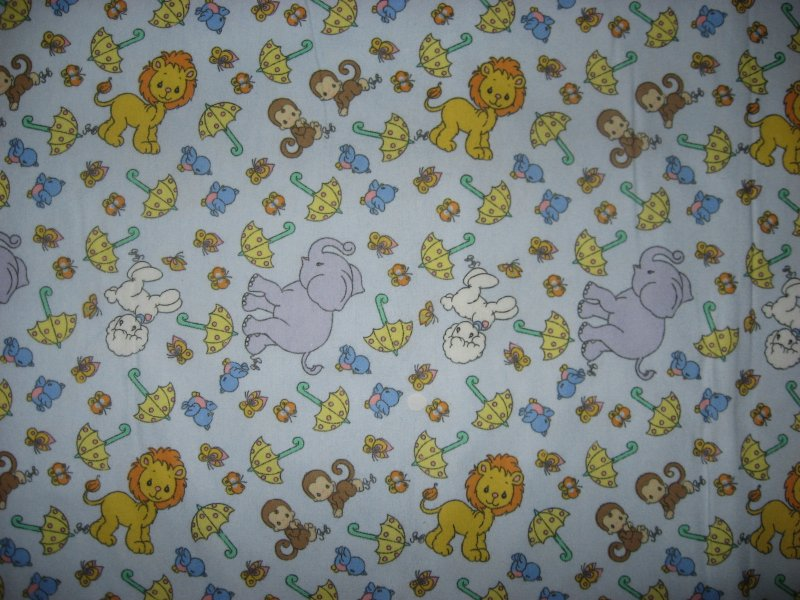 Noah's ark Lion Monkey Elephant Precious Moments Flannel handmade Baby Blanket