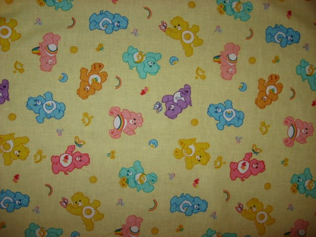 Care Bears yellow sewing cotton Fabric By The Yard