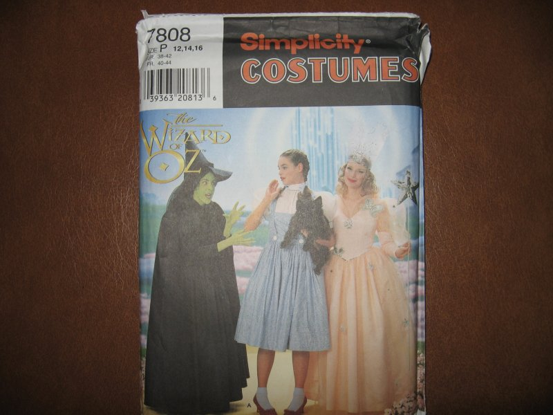 Pattern Uncut Costume Wizard of Oz Dorothy Witch Fairy S 7808 Adult P sz 12-14