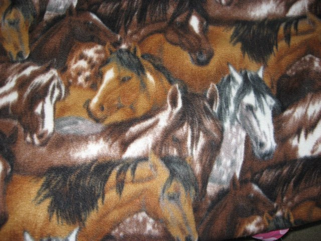 Image 0 of Packed Horses brown and dapple gray Anti-pill Fleece blanket throw