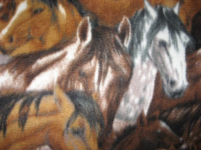 Image 1 of Packed Horses brown and dapple gray Anti-pill Fleece blanket throw