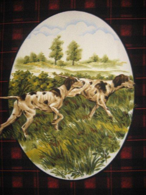 Pointers retriever dog Fleece Blanket handmade