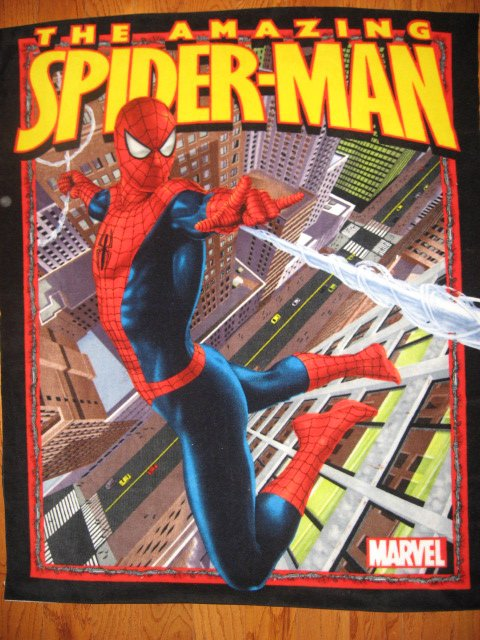 Image 0 of Spiderman comic book hero web city Fleece blanket