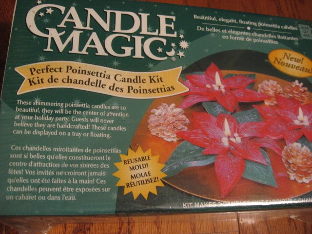 Image 0 of Candle Magic Pointsettia Kit Make 3 beautiful candles with a reusable mold