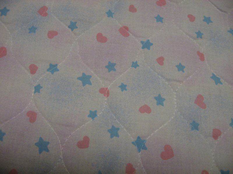 Image 1 of Sun Stars Rainbows Precious Moments Handmade Quilted Crib Panel blanket