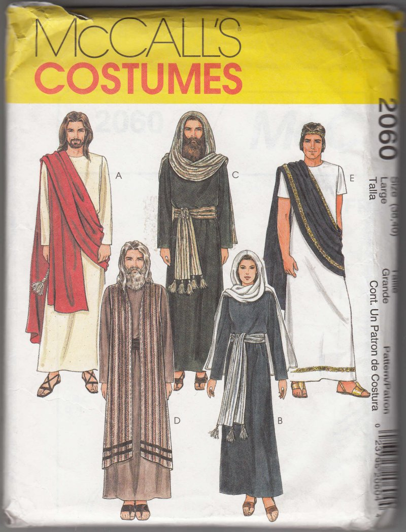 McCall's sewing Pattern Adult Costume Jesus Mary Apostles Passion School Play