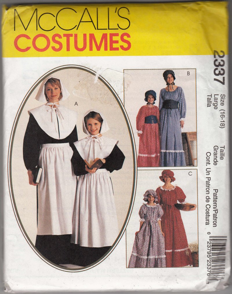 McCall's sewing pattern Misses and girls Amish Country Costume Play Halloween