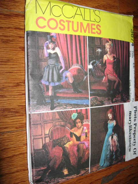 McCall's Sizes 6-20 Misses sewing Pattern Costume Sexy Can-Can girls Halloween