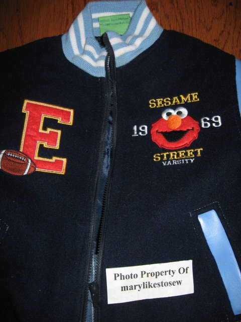 Image 1 of Licensed Sesame Street Elmo Fall Winter jacket top jeans Excellent condition 3T