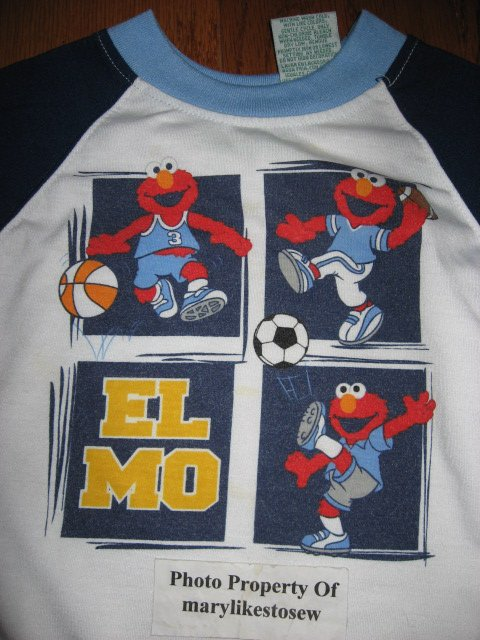 Image 2 of Licensed Sesame Street Elmo Fall Winter jacket top jeans Excellent condition 3T