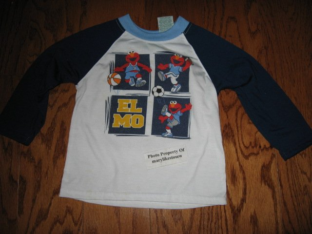 Image 3 of Licensed Sesame Street Elmo Fall Winter jacket top jeans Excellent condition 3T