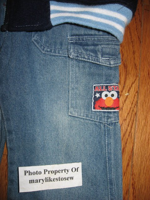 Image 4 of Licensed Sesame Street Elmo Fall Winter jacket top jeans Excellent condition 3T