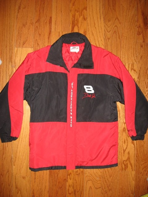Dale Earnhardt Junior Nascar Winners Circle lined jacket with Budweiser Logo XL