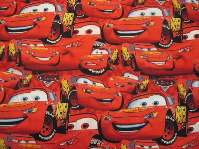 Image 0 of Disney Pixar Cars Movie McQueen cotton quilt Fabric by the yard