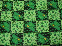 Thumbnail of Saint Patrick's Day Hats Clover Shamrocks sewing cotton Fabric by the yard