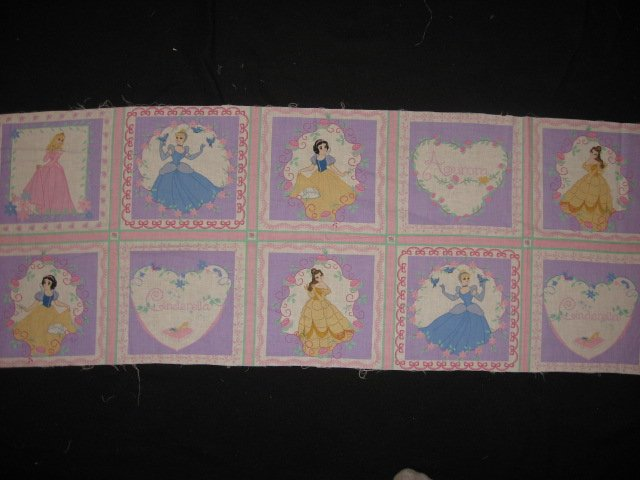 Disney Princesses with Roses Fabric pillow panels set of ten small