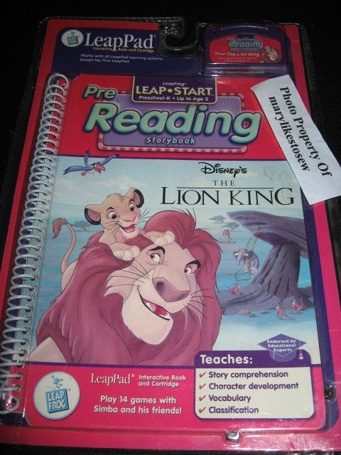 LeapPad 14 Games New Disney's The Lion King Simba Leap Start Reading Age K-5