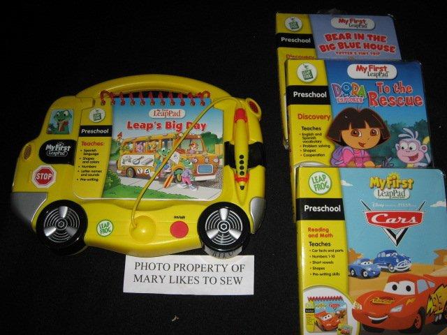 My First LeapPad SET New 3 Unopened Preschool Cartridges Dora Pixar Tutter Mouse
