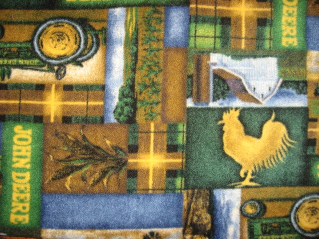 Fleece Blanket Throw John Deere Tractor Rooster Anti pill Plaid Farm