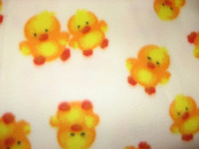 Chicks Ducklings Fleece blanket very soft handmade /
