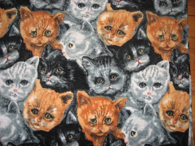 Cat Kitty handmade crate fleece blanket for dog cat ferret  /