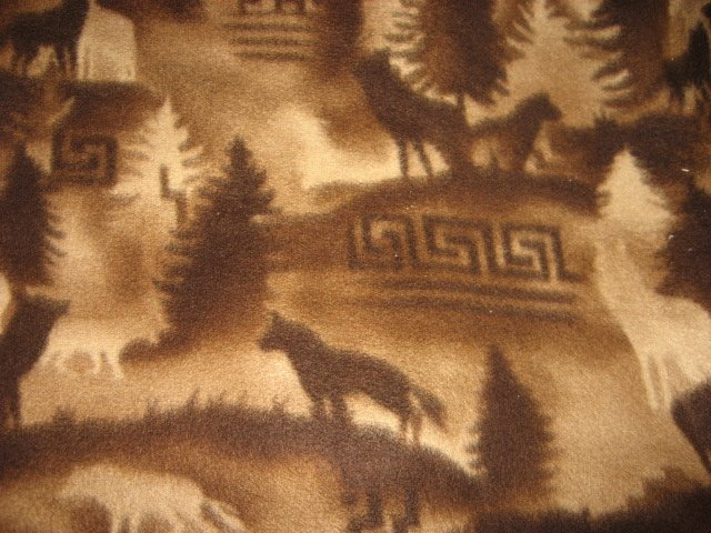Wolf Wolves Southwest fleece blanket