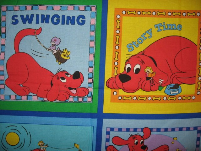 Image 1 of Clifford The Big Red Dog baby Soft book fabric or wall Panel to Sew /