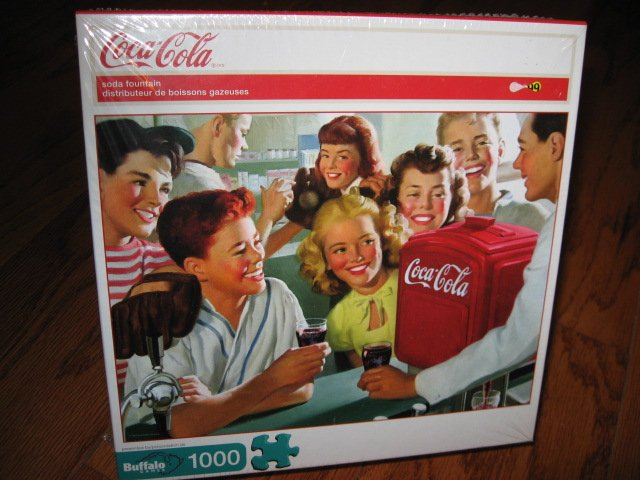 Coca-cola Soda Fountain sealed 1000 pieces Puzzle year 2009 NEW