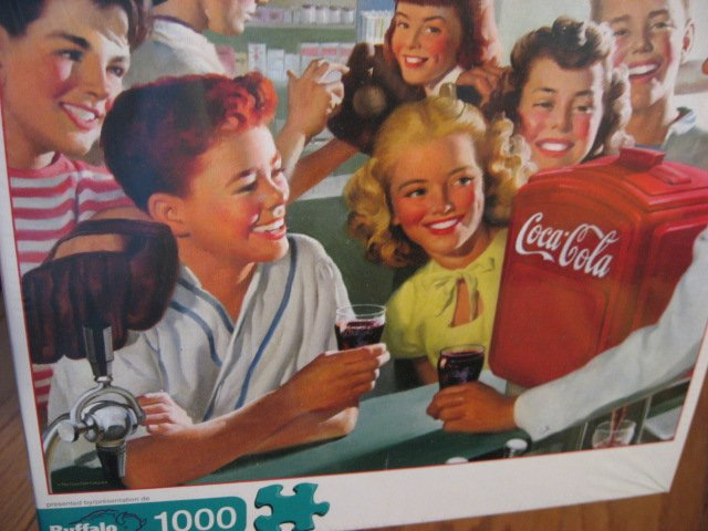 Image 1 of Coca-cola Soda Fountain sealed 1000 pieces Puzzle year 2009 NEW