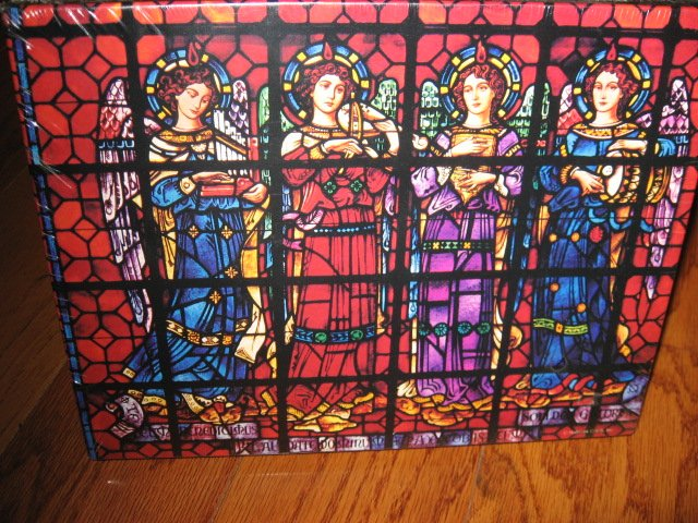 Image 0 of Christmas Angel Mission Dolores Basilica CA stained glass 500 pcs sealed Puzzle