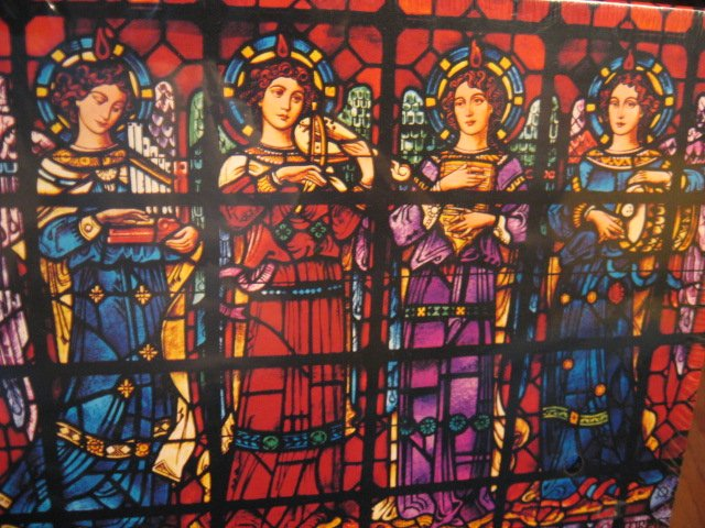 Image 1 of Christmas Angel Mission Dolores Basilica CA stained glass 500 pcs sealed Puzzle