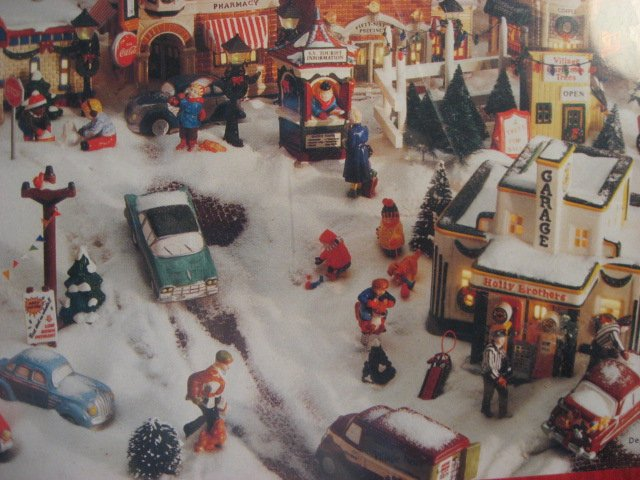 Image 2 of Snow village Houses Hallmark 1000 pieces sealed Puzzle  year 1997