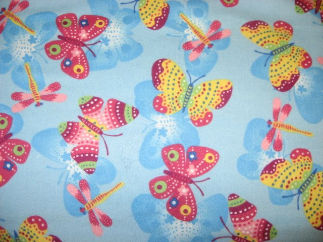 butterfly Toddler Daycare Flannel Baby Blanket