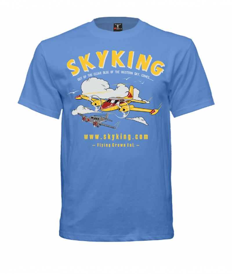 Image 1 of Sky King T-shirt Cessna 310 Medium Carolina Blue