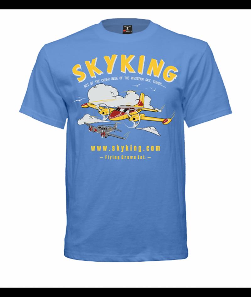 Image 1 of Sky King T-shirt Cessna 310 Medium Carolina Blue