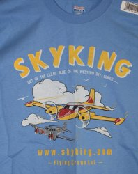 Sky King T-shirt Cessna 310 Medium Carolina Blue