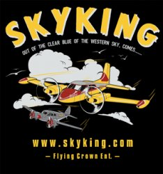 Sky King T-shirt Cessna 310 Lg Black
