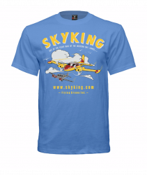 Sky King Cessna 310 T-Shirt X-Lg Carolina Blue